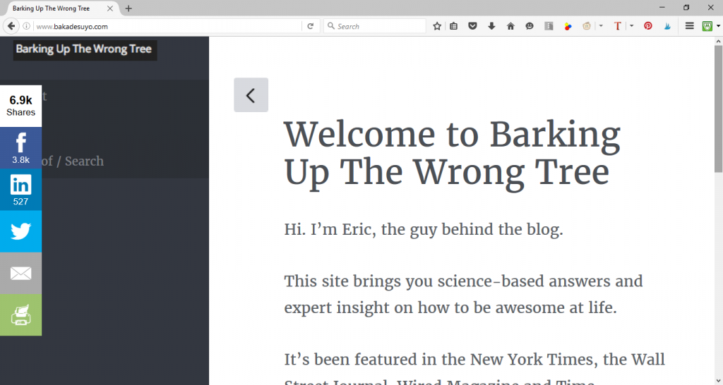 Barking Up the Wrong Tree by Eric Barker