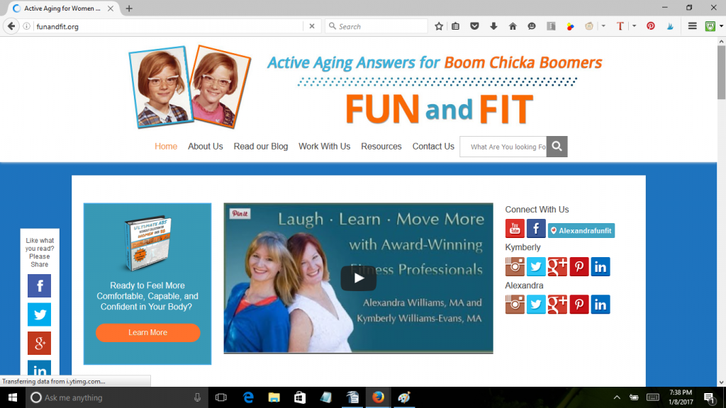 Fun and Fit blog by Kymberley Williams-Evans and Alexandria Williams