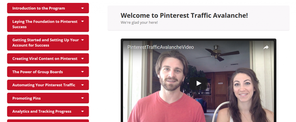 Pinterest Traffic Avalanche Course review