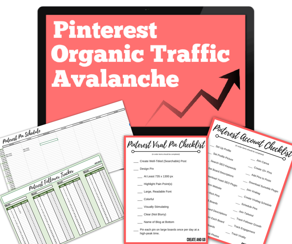 Pinterest Organic Traffic Avalanche review collage