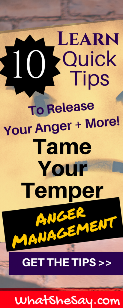 Pinterest pin - Anger Management for Adults, Tame Your Temper