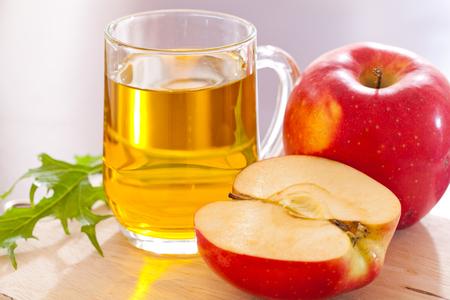 apple cider vinegar drink in a glass mug