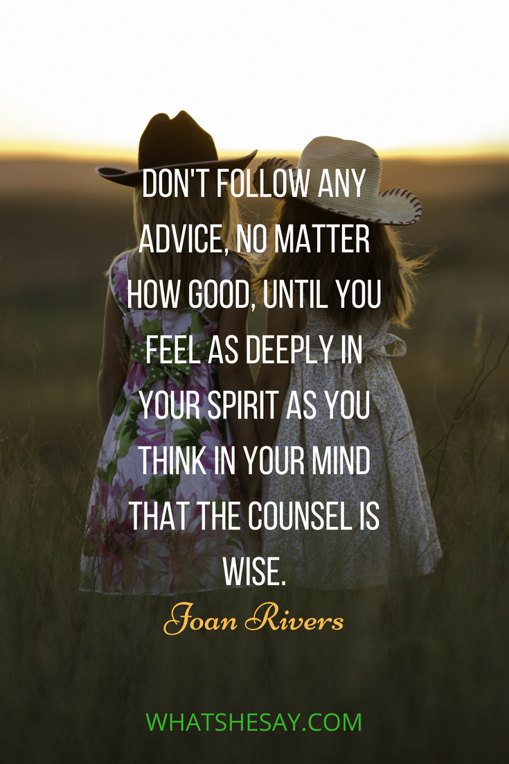 Joan Rivers Inspirational quote - What She Say | Practical ...