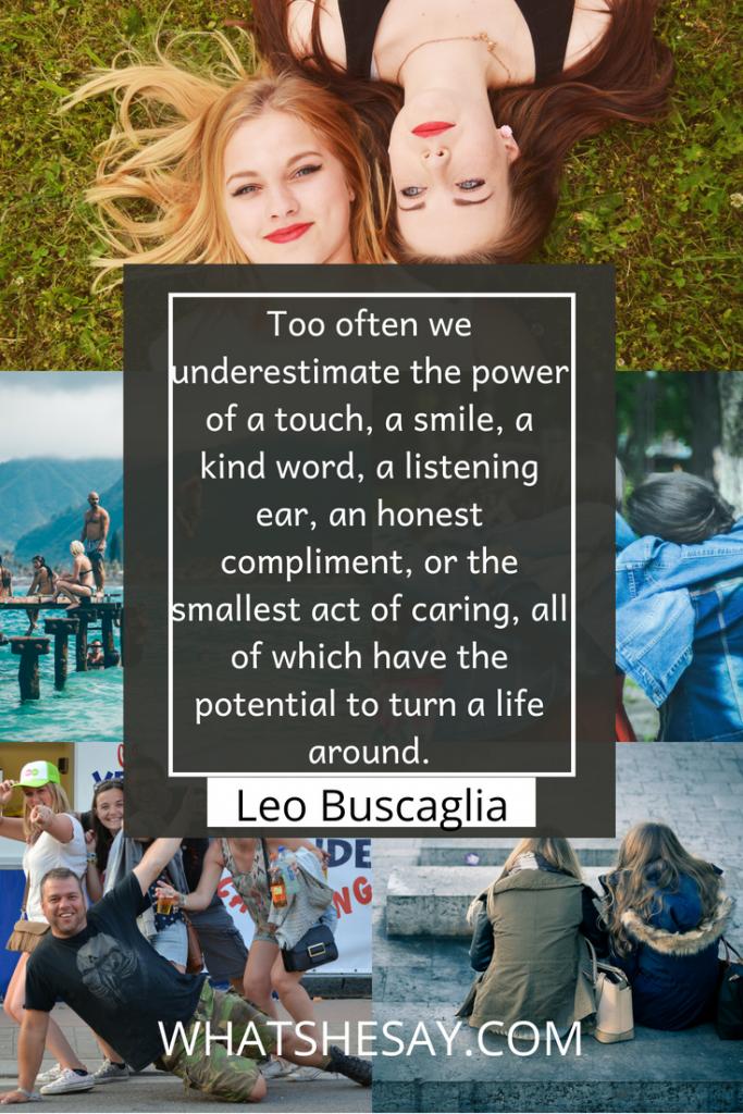 Leo Buscaglia motivaitonal quote