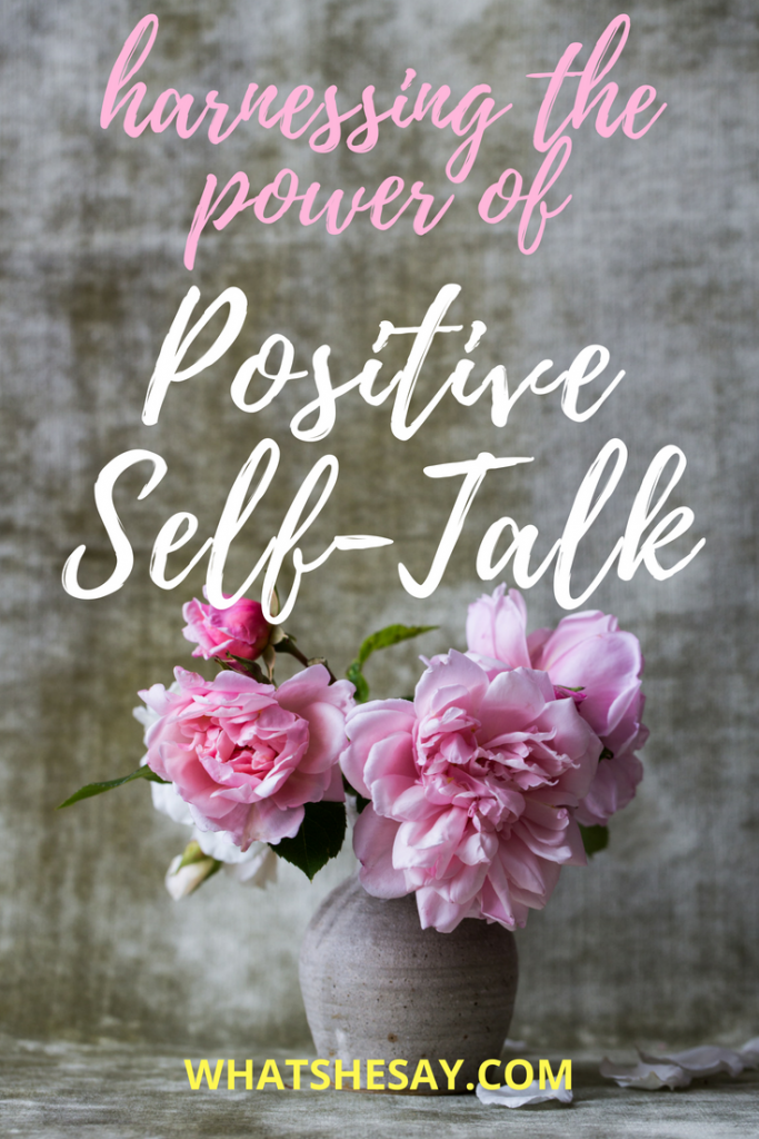 Vase of pink flowers - positive self-talk