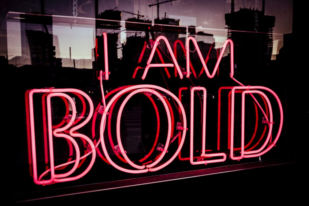 I Am Bold neon sign - positive self-talk