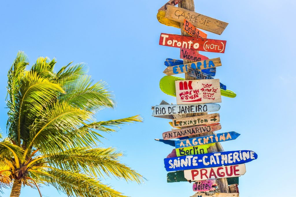travel signs - how to find yourself
