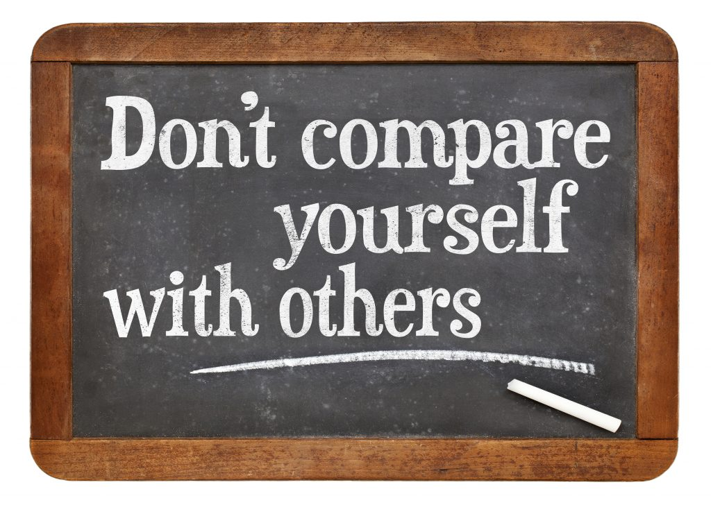 chalk board - Don't compare yourself with others