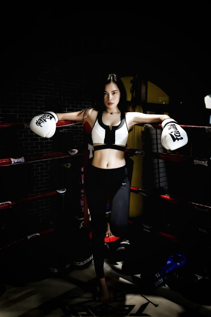female boxer - assertive woman
