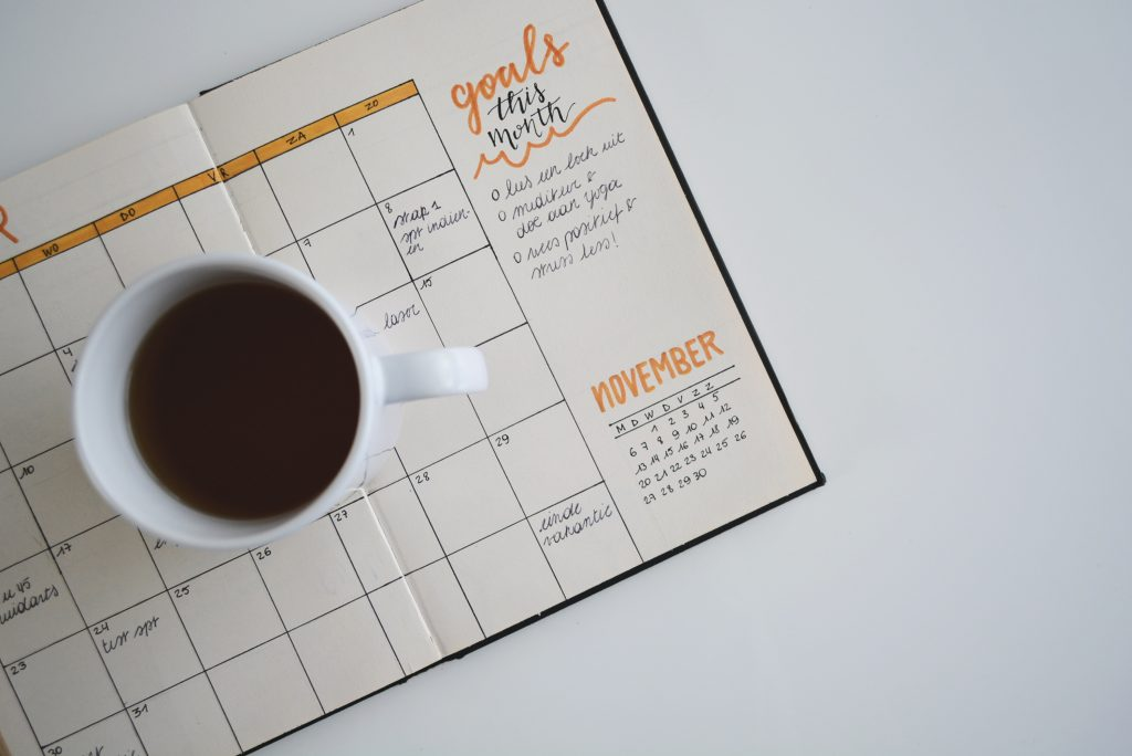 goals calendar self-improvement tips