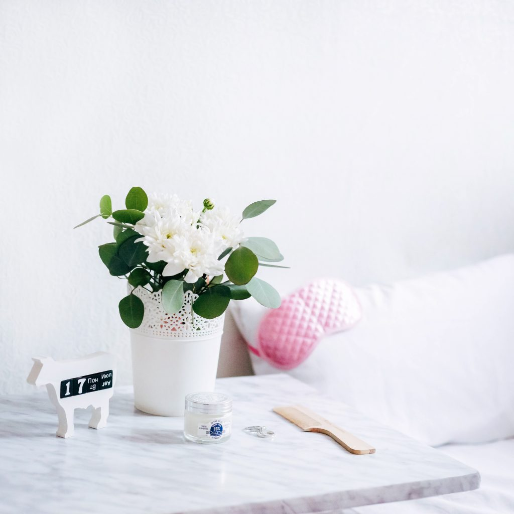 side table - good morning