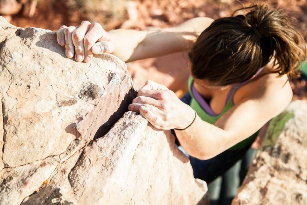 woman climber self-improvement
