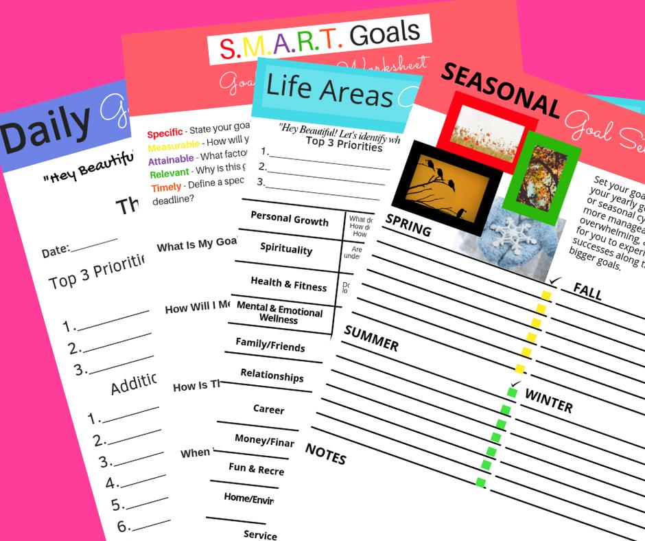 WhatSheSay Goals Setting Worksheets